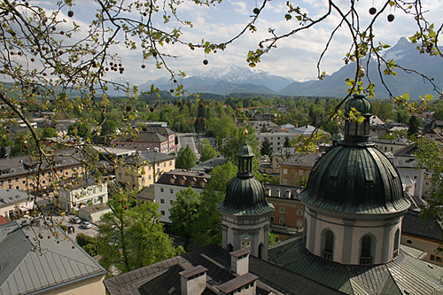 The Erhard Church in Nonntal, overlooking the south of Salzburg
