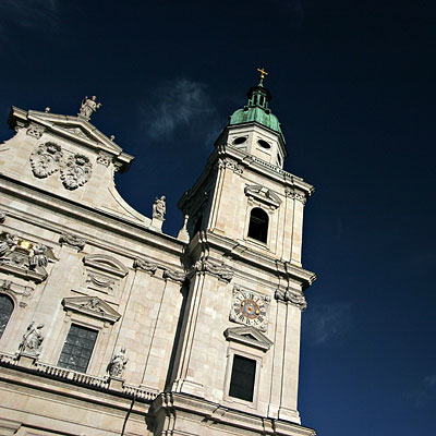 Salzburger Dom Cathedral: A fine Baroque Church.