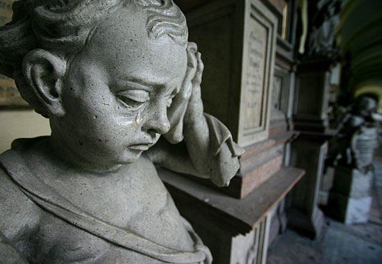 Engel am Friedhof St. Sebastian in Salzburg
