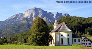 The Untersberg as seen from Bad Reichenhall in Germany.