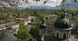 Salzburg view to the south in June