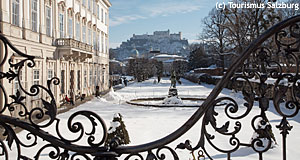 Salzburg's Mirabellgarten in winter: A magical city in Austria, not Poland.