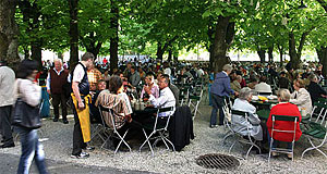 The Müllner Bräu is the biggest beer garden in Austria.