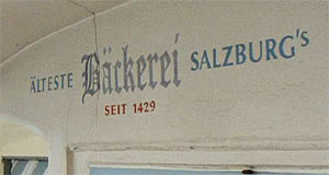 Salzburg's oldest bakery? Not really - just a good fake.