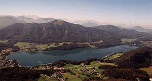 Lake Fuschlsee in the Flachgau is among the clearest mountain lakes in Austria.
