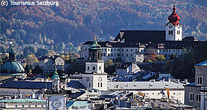 The nunnery or Stift Nonnberg Abbey in Salzburg - known from The Sound of Music.