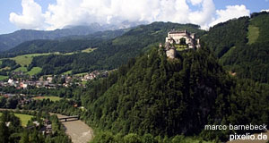 The fortress of Hohenwerfen Castle is the second important castle in Salzburg.