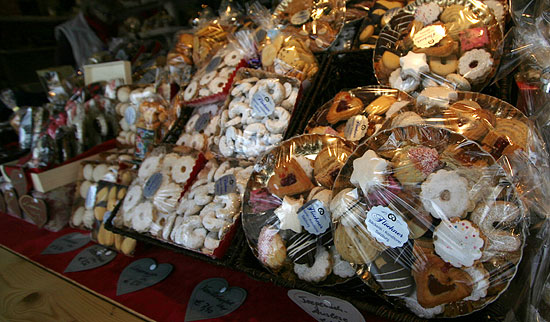 Lebkuchen (gingerbread) that is sold at Salzburg's Christmas Market