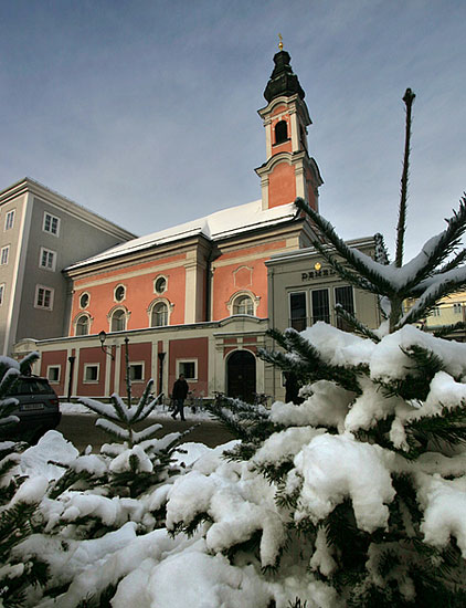 St. Michaelskirche with Christmas trees