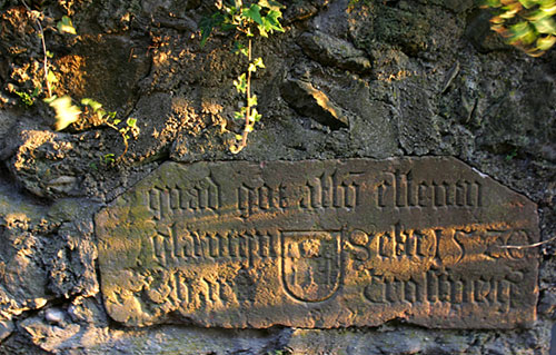 Latin Inscription in Wall