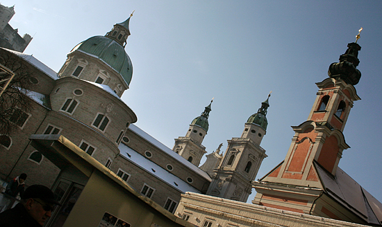 Spires in the Old Town of Salzburg